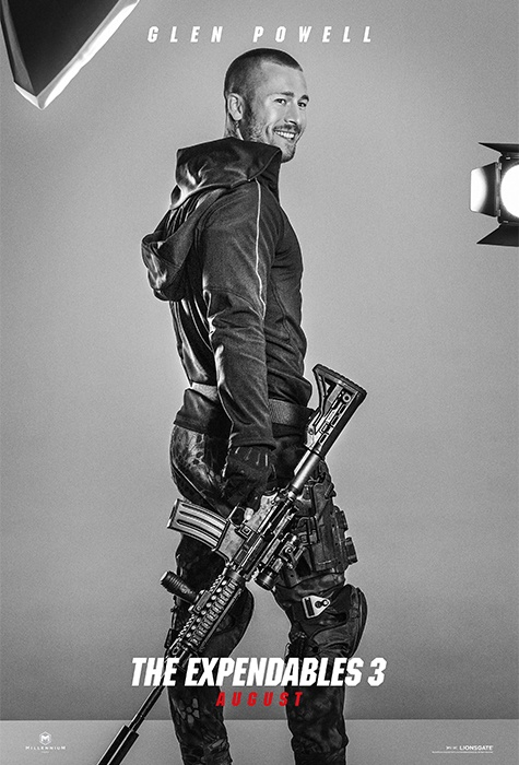Glen Powell expendables 3 poster
